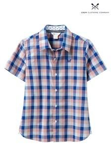 Crew Clothing Blue Check Shirt