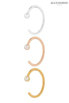 Accessorize Crystal Lip, Ear & Nose Rings