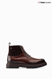 Base London® Brown Drummond Chunky Biker Boots