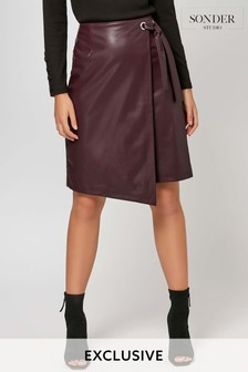 Sonder Purple Wrap Skirt