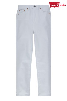 Levi's® White Ribcage Ankle Straight Jeans