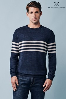 Crew Clothing Company Blue Silsden Crew Jumper