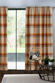 Ashworth Woven Check Curtains