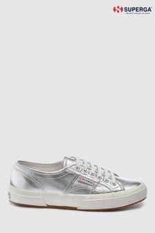 Серебристые кроссовки с эффектом металлик Superga® 2750 Cotu
