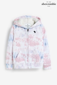 Abercrombie & Fitch Pink Sherpa Zip Hoody