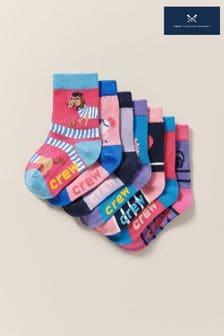 Crew Clothing Pink Bamboo Socks 7 Pack