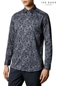 Ted Baker Forsure Long Sleeve Paisley Printed Shirt