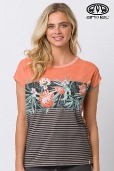 Animal Orange Ethnique Graphic T-Shirt