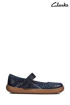 Clarks Blue Flash Stripe T Shoes