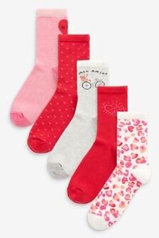 Valentines Ankle Socks Five Pack