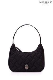 Kurt Geiger London Black Recycled Kensington Hobo Bag