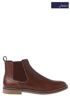 Joules Tan Bourne Leather Chelsea Boots