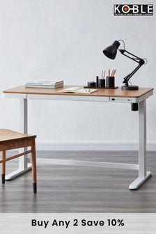 Juno Oak Smart Desk by Koble