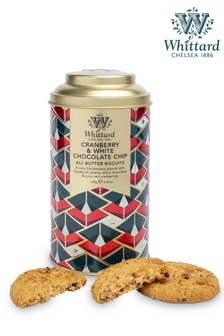 Set of 2 Whittard Of Chelsea All Butter Cranberry And White Chocolate Chips Biscuits