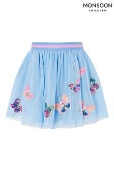 Monsoon Blue Disco Butterfly Skirt