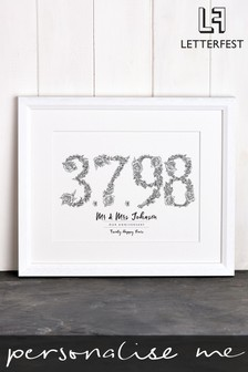 Personalised Memorable Day Framed Print by Letterfest