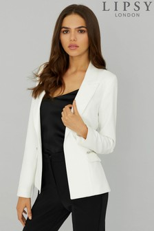 Lipsy Fitted Zip Pocket Tailored Blazer