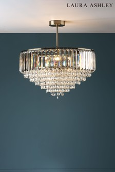 Laura Ashley Vienna Crystal 5 Light Semi Flush Ceiling Light
