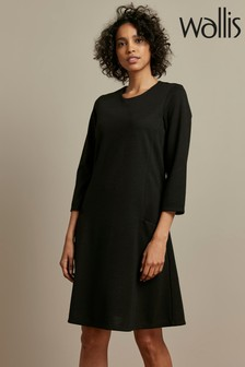 Wallis Black Pocket Swing Dress