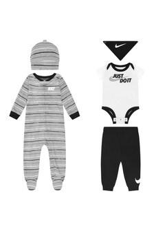 Baby Boys Black & White 5 Piece Set