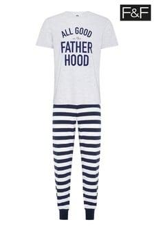 Granatowa piżama z kolekcji dla całej rodziny F&F Fatherhood