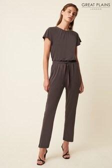 Great Plains Grey Chiltern Jersey Short Sleeve Jumpsuit