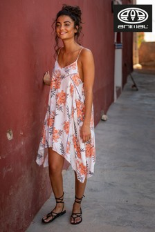 Animal Cream Boho Betty Woven Midi Dress