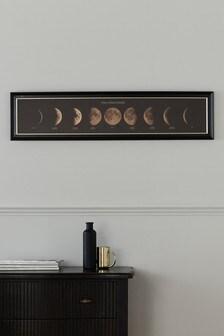 Lunar Cycle Framed Art