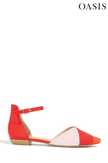 Oasis Red 2 Part Stripe Flat