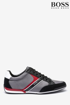 BOSS Grey Saturn Trainers