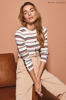 סוודר פסים סרוג שלMint Velvet דגם Second Skin בשילוב צבעים