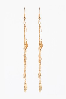 Tassel Leaf Drop Earrings