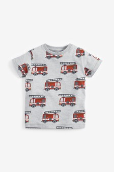 Short Sleeve Fire Engine T-Shirt (3mths-7yrs)