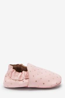 Premium Leather Slip-On Pram Shoes (0-18mths)