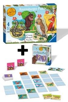 Ravensburger Gruffalo 4 Large Puzzles & Mini Memory Twin Pack