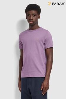 Farah  Purple Danny Short Sleeved T-Shirt