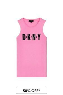 DKNY Black Cotton Tank Top