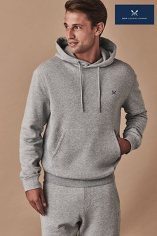 Crew Clothing Grey Crossed Oars Hoody