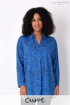 Live Unlimited Curve Blue Heart Print Jersey Shirt