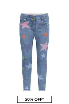 Girls Blue Cotton Jeans