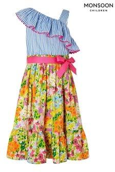 Monsoon Blue Mabel 2-In-1 Maxi Dress
