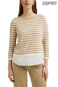 Esprit Brown Stripe Sweatshirt