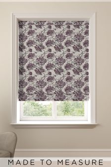 Cassandra Mulberry Purple Made To Measure Roman Blind