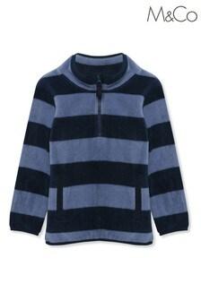 M&Co Blue Striped Fleece