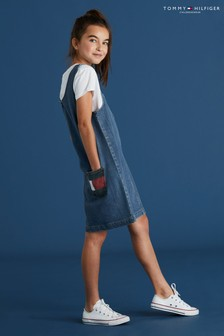 Dżinsowa sukienka na szelkach Tommy Hilfiger