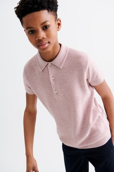 Textured Knitted Poloshirt (3-16yrs)