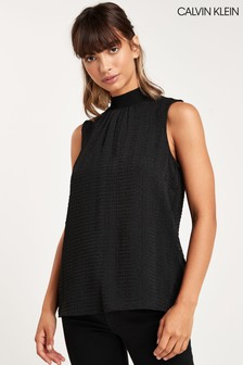 Calvin Klein Black Sleeveless Blouse