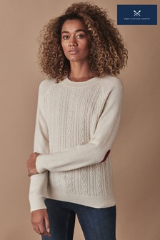 Crew Clothing Cream Cable Heart Jumper