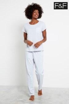 F&F Grey New Updated Core Pyjama Pack