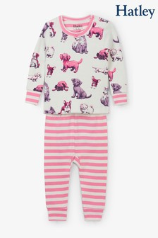 Hatley Natural Precious Pups Organic Cotton Baby Pyjama Set